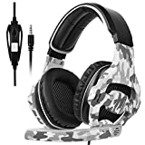Sades Gaming Headset for Xbox one PS4, Over Ear Noise Cancelling Gaming Headphones with Mic, Stereo Bass Surround, Volume Control for PC, Mobile, Mac, iPad, Laptop (Gray)