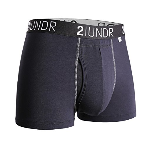 2UNDR Mens Swing Shift Trunk Boxers,Black/grey,X-Large (Swing Mens)