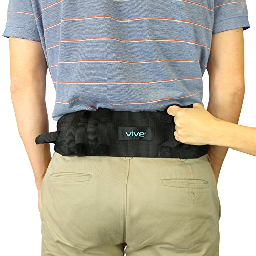 Transfer Belt With Handles by Vive - Medical Nursing Safety Gait Assist Device - Bariatrics, Pediatric, Elderly, Occupational & Physical Therapy - Long Gate Strap Quick Release Metal Buckle - 55 Inch