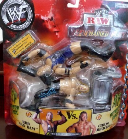 ROB VAN DAM RVD vs. CHRIS JERICHO WWE WWF Raw Unchained Fury Figures by 5Star-TD