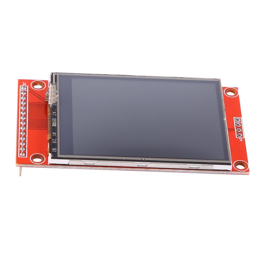 Akozon 3.3V 240x320 2.4'' SPI TFT LCD Touch Panel Serial Port Module with PBC ILI9341 for Arduino UNO MEGA