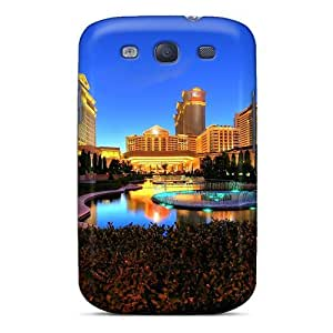 Galaxy S3 Hard Back With Bumper Silicone Gel Tpu Case Cover Caesars Palace Las Vegas Hotel & Casino