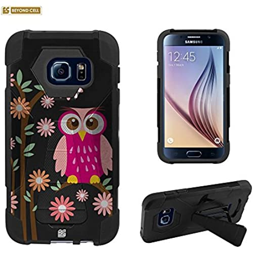 Spots8 Slim Fit Heavy Duty Protection Case with Kickstand for Samsung Galaxy S7 [Pink owl] Sales
