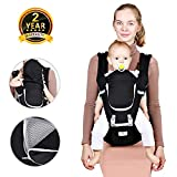 Baby Hip Seat Belt Carrier – Safety Certified Front Facing Back Pain Relief Soft Carrier (Ergonomic M Position), 100% Cotton for All Seasons, Child Infant Toddler, Perfect Baby Shower Gift Image