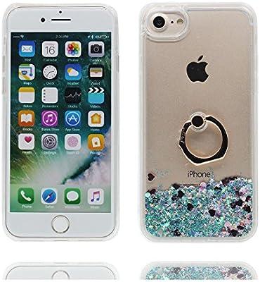 b37a1ef00a8 Desconocido iPhone 6 Carcasa, iPhone 6S Funda 4.7 Pulgada, [Floating Bling  Transparente Liquid Flowing Glitter Bling] iPhone 6 Case (4.7