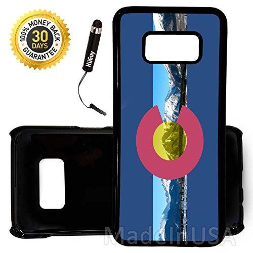 Colorado Rockies Ipod Case - Custom Galaxy S8 Case (Colorado Flag Rocky Mountains) Edge-to-Edge Plastic Black Cover Ultra Slim   Lightweight   by Innosub