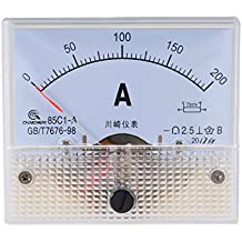 uxcell 85C1-A Analog Current Panel Meter DC 200A Ammeter for Circuit Testing Ampere Tester Gauge 1 PCS