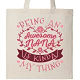 Inktastic - Awesome Nana Grandmother Gift Tote Bag Natural 2f31a