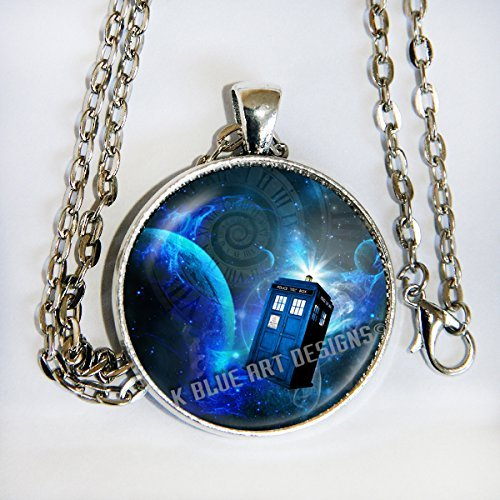 Dalek Costume Images (Doctor Who inspired TARDIS image - Pendant Necklace - HM)