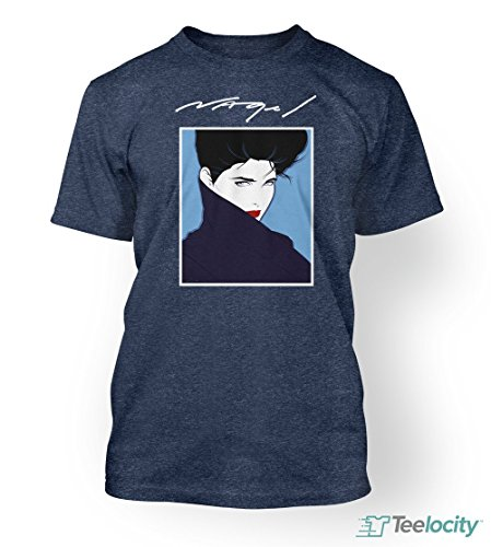 Teelocity Patrick Nagel Official Retro 1980's Fashion Icon Very Rare T-Shirt (Medium)