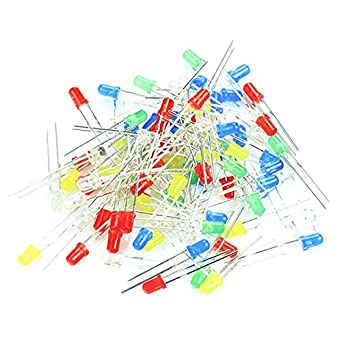 100pcs 3mm led light white yellow red green blue assorted kit diy 100pcs 3mm led light white yellow red green blue assorted kit diy leds