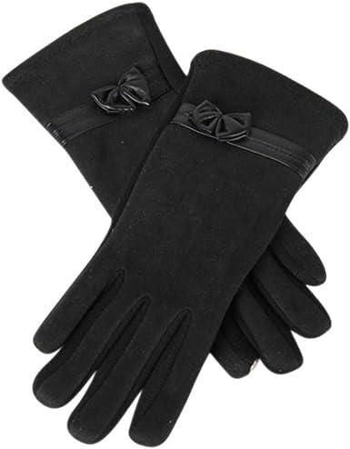 Women Lady Bowknot Warm Hand Gloves Fingerless Women Accessory Wrist Gloves