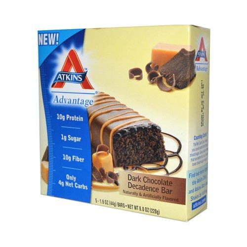 New - Atkins Advantage Bar Dark Chocolate Decadence - 5 Bars (Dark Chocolate Appetite Suppressant)