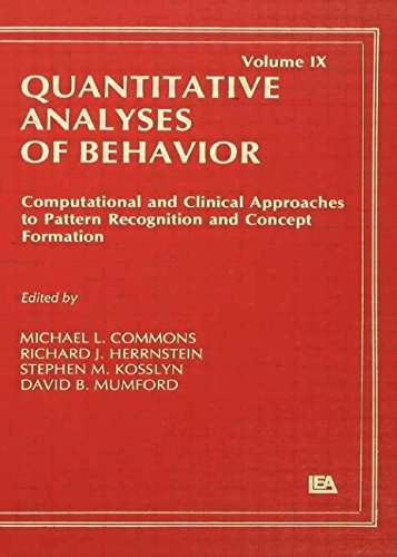 Book cover from Computational and Clinical Approaches to Pattern Recognition and Concept Formation: Quantitative Analyses of Behavior, Volume IX (Quantitative Analyses of Behavior Series) by Barbara Herrnstein Smith (Editor), E. Roy Weintraub (Editor), Ri