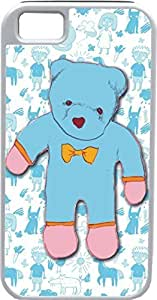 iPhone 4 4S Cases Customized Gifts Cover Light blue teddy bear wearing a sad expression Design