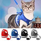 cymbilanfranX Pet Cat Small Dog Adjustable Reflective Walking Harness Vest with Lead Leash