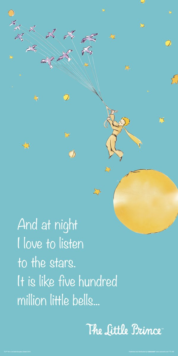 The Little Prince Flying Quote (Antoine de Saint-Exupery) Children\'s Kids  Literary Literature Classic Book Cover Decorative Classroom Art Poster Print