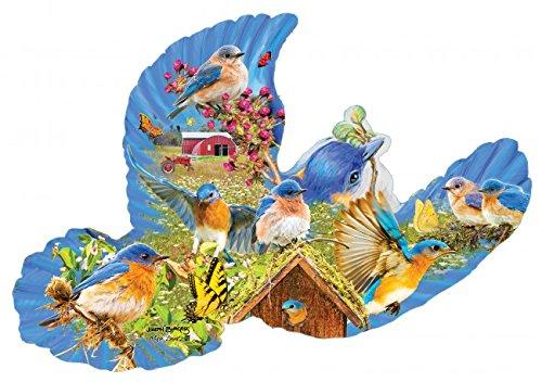 Bluebird Country Shaped Jigsaw Puzzle, Bluebird Shaped Jigsaw Puzzle, Bird Shaped Jigsaw Puzzle