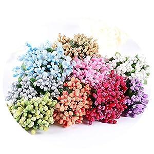 Elibone 12pcs Artificial Flower Bouquet Foam Calla Handmake Flowers Wedding Decoration Wreath Gift Box Scrapbooking Craft Fake Flower.b 61
