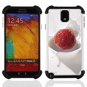 King Case - Fruit Macro Creamy Raspberry - Cubierta de la caja protectora completa h???¡¯???€????€?????brido Body Armor Protecci??&AE