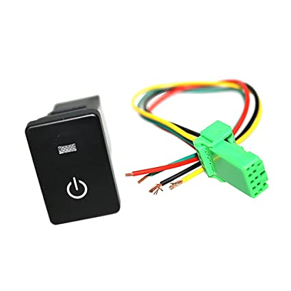 Fit 10-UP Toyota Tacoma 4Runner RAV4 LED Push Button Switch W//Connector Wire Kit