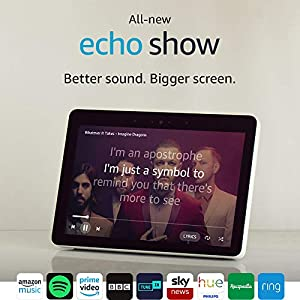 """All-New Echo Show (2nd Gen) – Premium Sound and a Vibrant 10"""" HD Screen – White"""