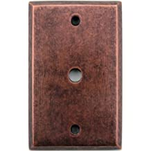 Classic Accents Mottled Antique Copper Single Gang Wall Plate -Cable