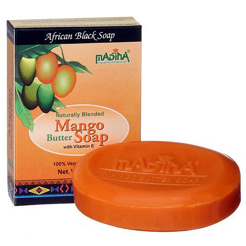 Soap Splash Bar Tone Mango - Mango Cocoa Butter Natural Soap Dry Skin Moisture Herbal Cleanser Madina 12 Bar