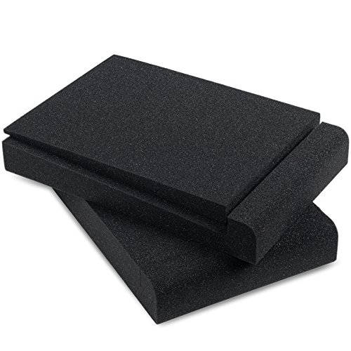 Sound Addicted - Studio Monitor Isolation Pads for 5'' Inch Monitors, Pair of Two High Density Acoustic Foam which Fits most Speaker Stands