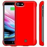 YICF iPhone 6 6s 7 8 Funda con Batería, 5000mAh Portátil Baterías Externas Combinar de Protección Funda para Apple iPhone 6/6s/7/8, Cargador de Carcasa, Apoyo Lightning Auriculares (Rojo)