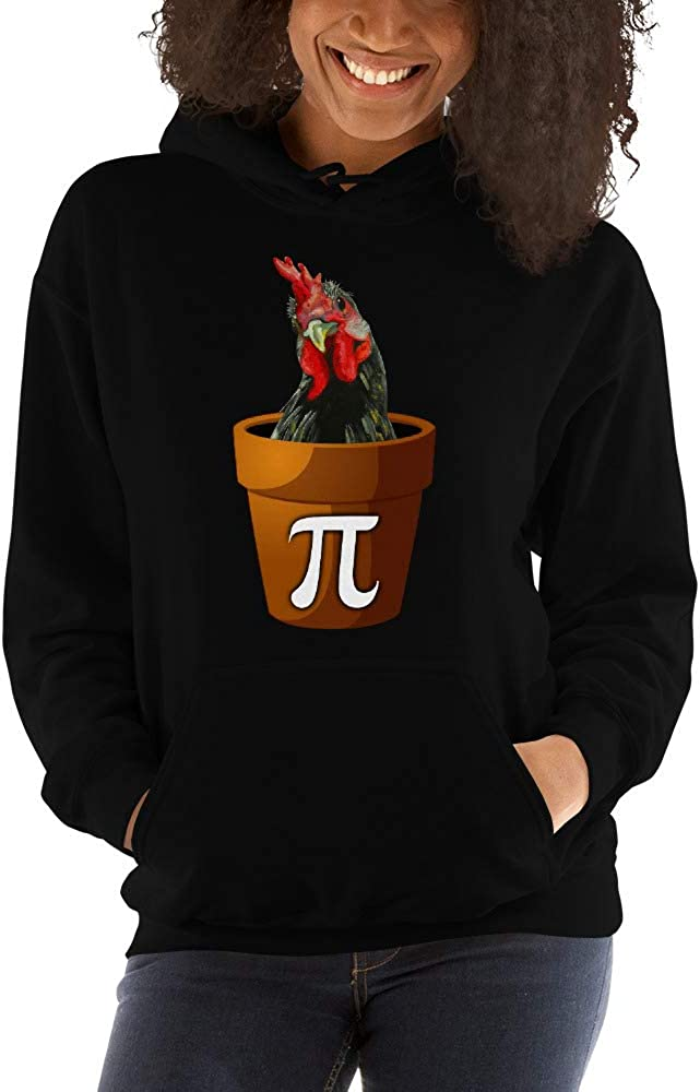 TEEPOMY Pi Cock Peacock Funny Pi Day Math Lovers Unisex Hoodie