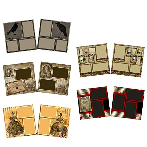 Haunted House - Halloween Scrapbook Set - 5 Double Page Layouts -