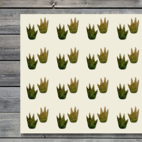 (Alligator Print Track Tracks Zoo Craft Stickers, 44 Stickers at 1.5 Inches, Great Shapes for Scrapbook, Party, Seals, DIY Projects, Item 157480)