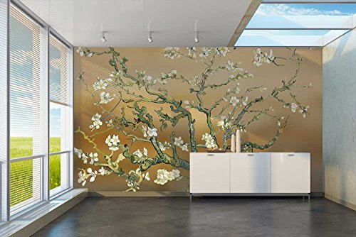 Gold Almond Blossom by Vincent Van Gogh Wall Mural