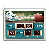 NFL Miami Dolphins Scoreboard Wall Clock, Small, Multicolor