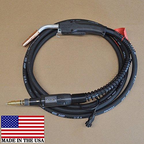 Profax M400-3545-15 Mig Gun - 400 AMP.035-.045 Wire, 15 FT - Fits -