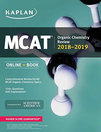 MCAT Organic Chemistry Review 2018-2019: Online + Book (Kaplan Test Prep)