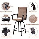 Outdoor Swivel Bar Stools All-Weather Counter