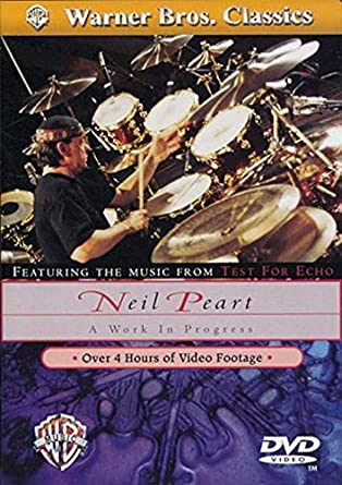 NEIL PEART TAKING CENTER STAGE DRUM TECNIQUE INSTRUCTION BOOK /& 3-DVD COMBO