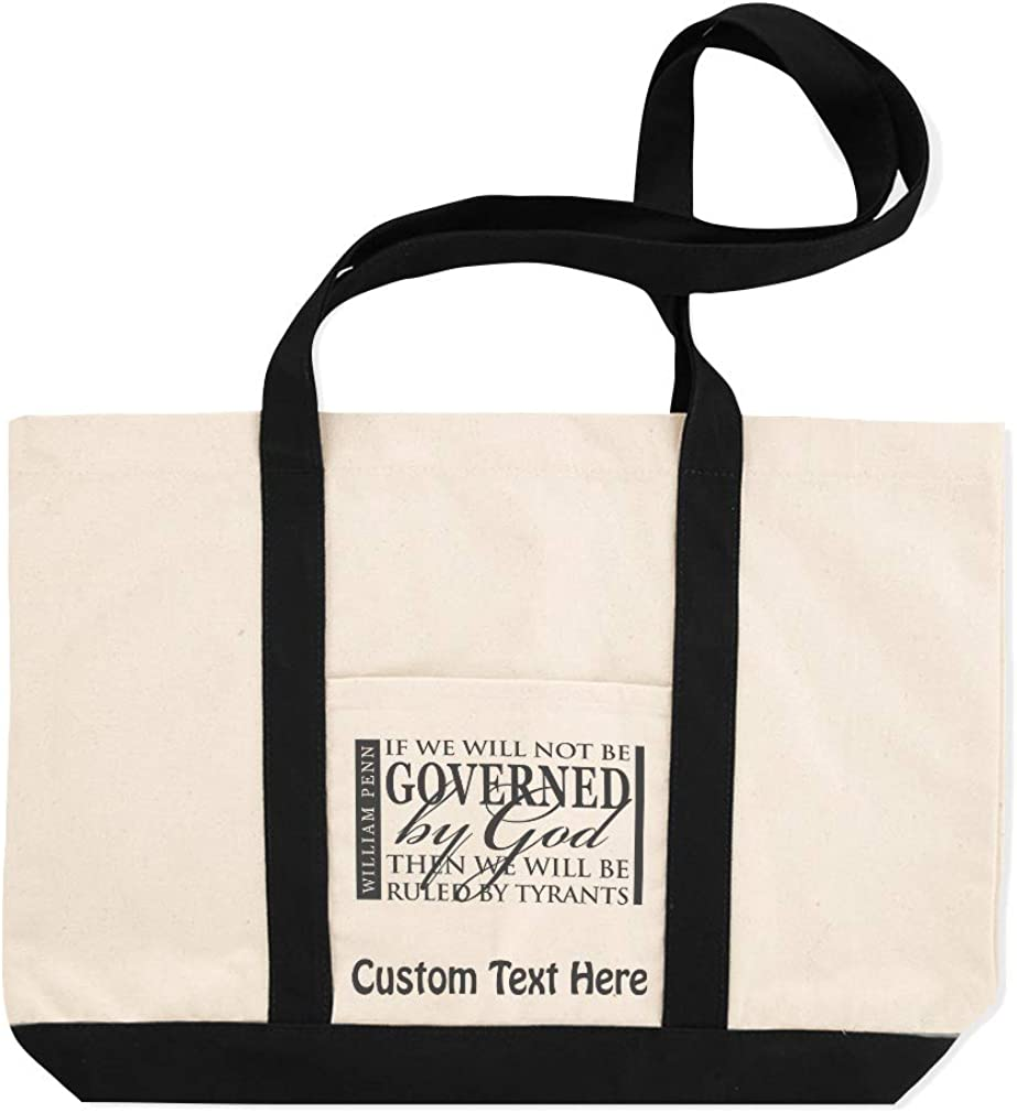 Canvas Shopping Tote Bag Id Will Not Be Governed God Then Ruled by Tyrants God Beach for Women