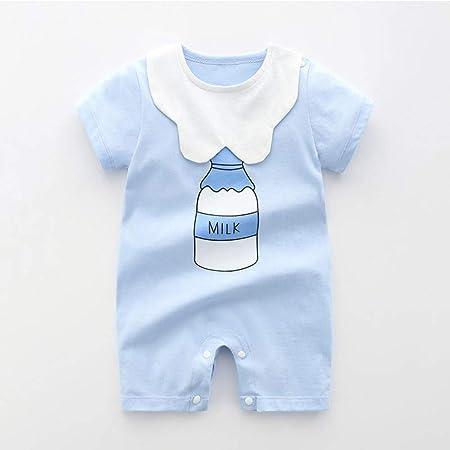 QMGLBG 0-24 Meses Ropa de bebé Algodón Mamelucos Unisex Bebé Niño Niñas Manga Corta Verano Dibujos Animados Niño Ropa para niños: Amazon.es: Hogar
