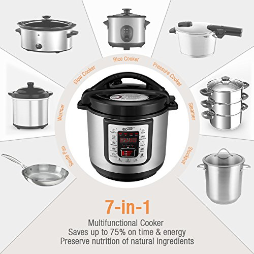 Electric Pressure Cooker For Canning ~ Housmile electric pressure cooker with steam rack quart