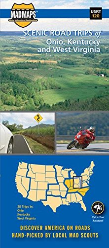 MAD Maps - Scenic Road Trips Map of Ohio - North Kentucky - West  West Virginia - -