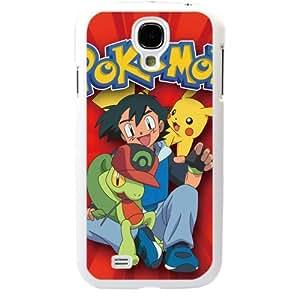 Pokemon Popular Cute Pikachu Samsung Galaxy S4 SIV i9500 TPU Soft Black or White Cases