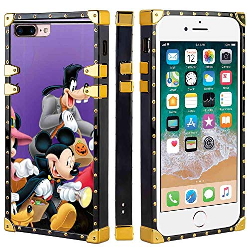 iPhone 7 Plus and iPhone 8 Plus 5.5 Version Phone Case Halloween Mickey Mouse and Minnie Mouse Goofy Donald Duck Pluto Disney Halloween Wallpaper]()