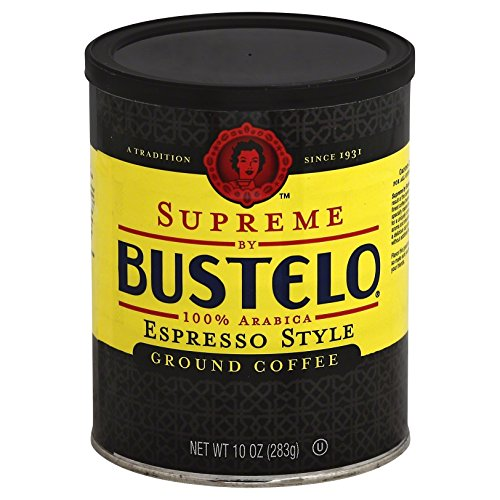 Supreme By Cafe Bustelo, Espresso Style Coffee, Can, 10 Ounce (Pack of 12), Packaging May Vary. by Cafe Bustelo