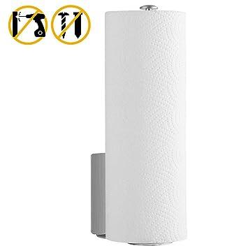 Beito - Portarrollos de papel de cocina autoadhesivo, dispensador de pañuelos de acero inoxidable 304