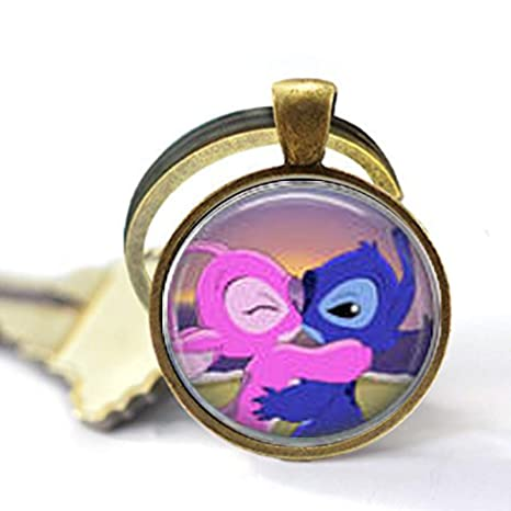 Stitch & Angel Kiss - Llavero: Amazon.es: Hogar