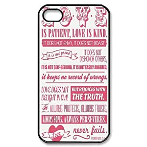 Custombox Bible Verse Iphone 4/4s Case Plastic Hard Phone Case for Iphone 4/4s-iPhone 4-DF01988