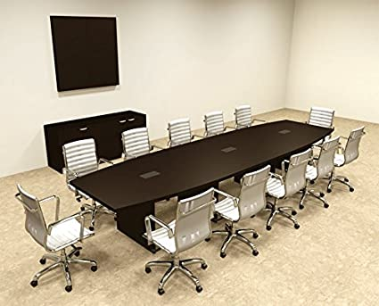 Amazon Com Modern Boat Shaped 14 Feet Conference Table Of Con